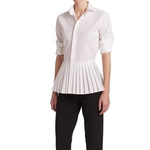 RALPH LAUREN BLACK LABEL ADRIA Pleated Peplum